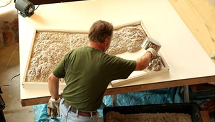 Изготовление столешницы способом литья акриловой смолы в форму.