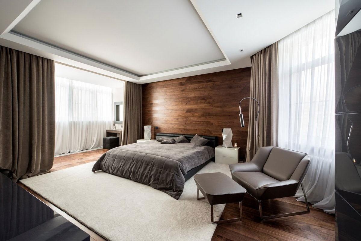 Утонченный и лаконичный интерьер спальни в стиле модерн