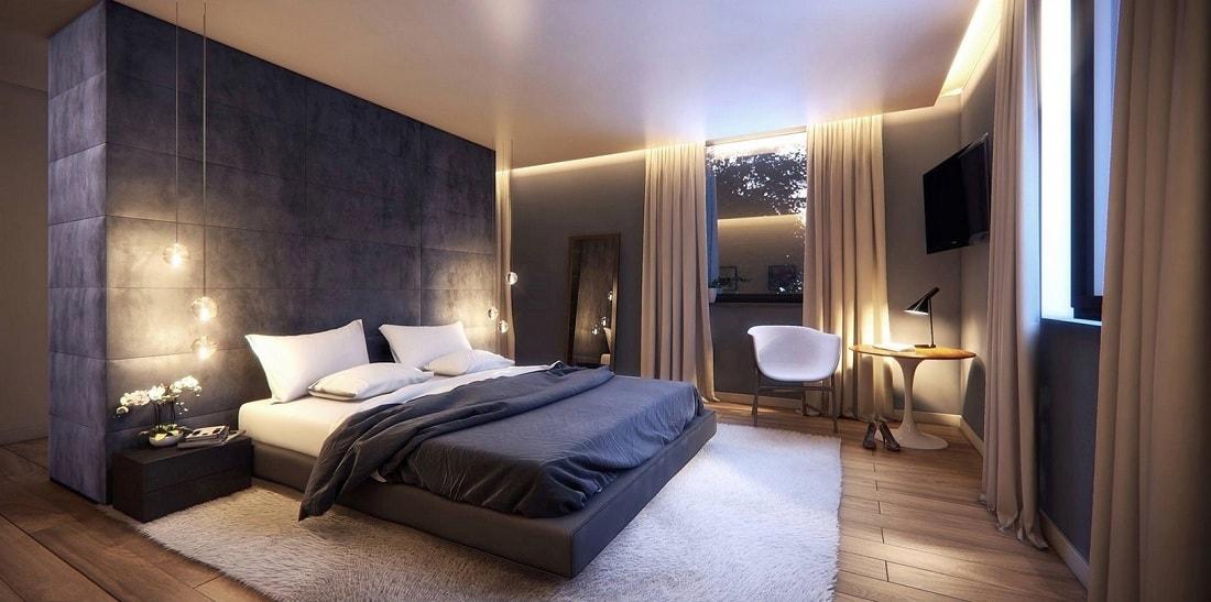 Правильное освещение в спальне располагает к хорошему и приятному отдыху