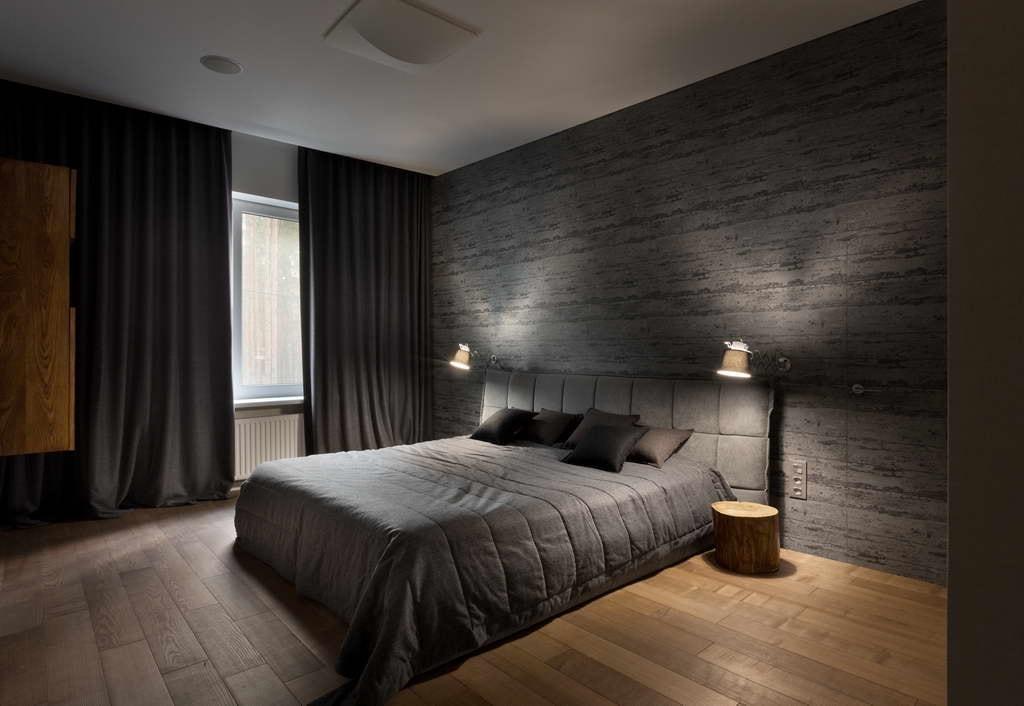 Изящный дизайн спальни с приятным неназойливым освещением