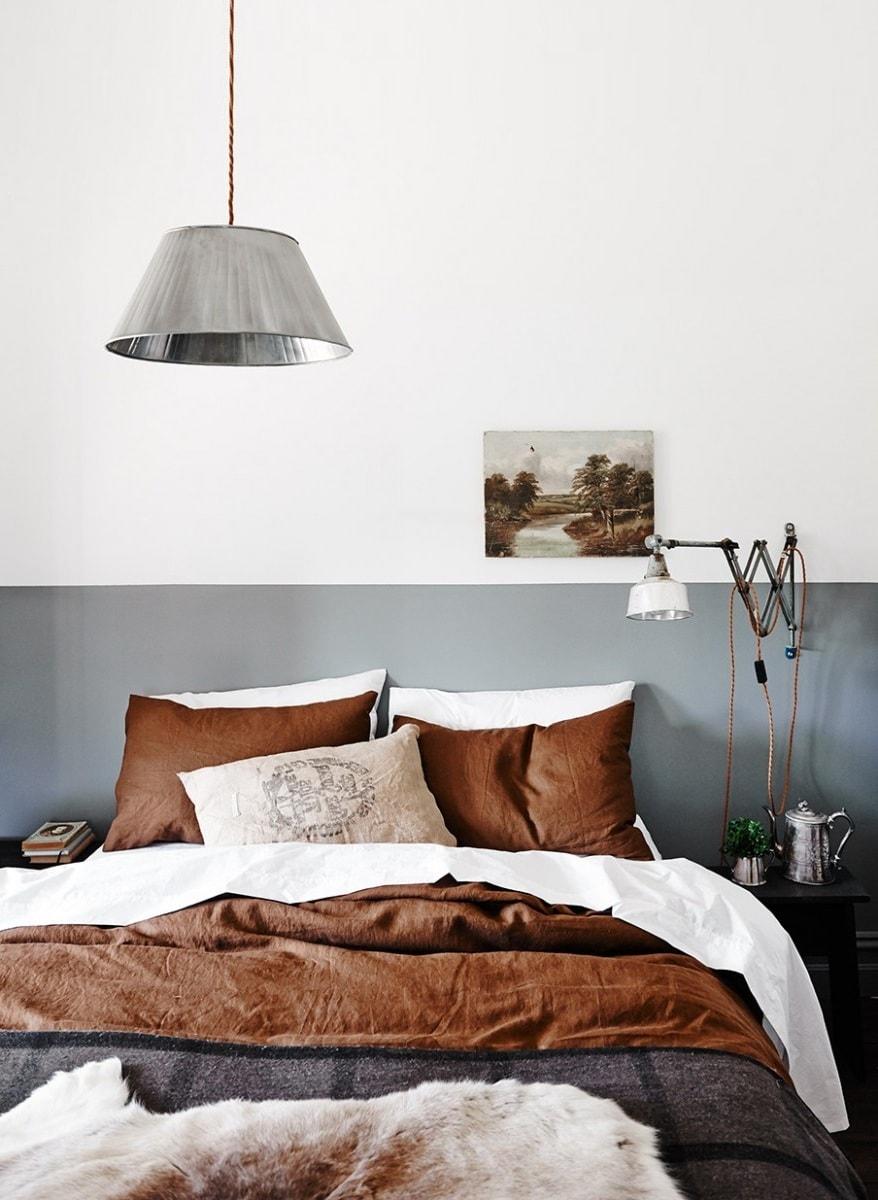 Освещение спальни в стиле ретро