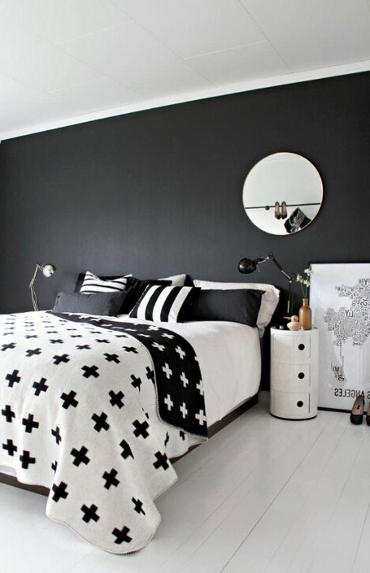 Стильная спальня в черно-белых тонах