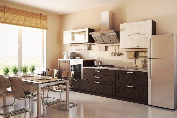 Прямые кухни в современном стиле фото