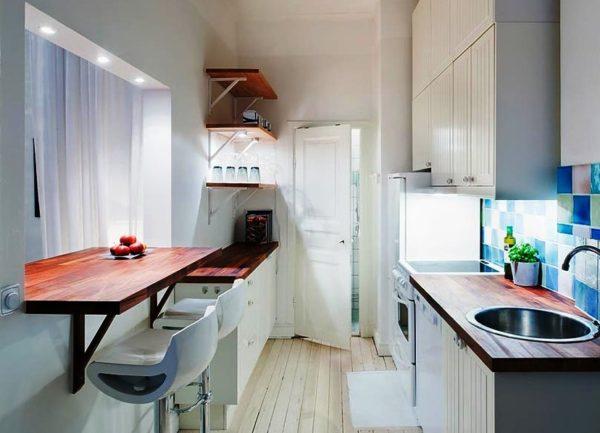 Фото идеи дизайна маленькой кухни