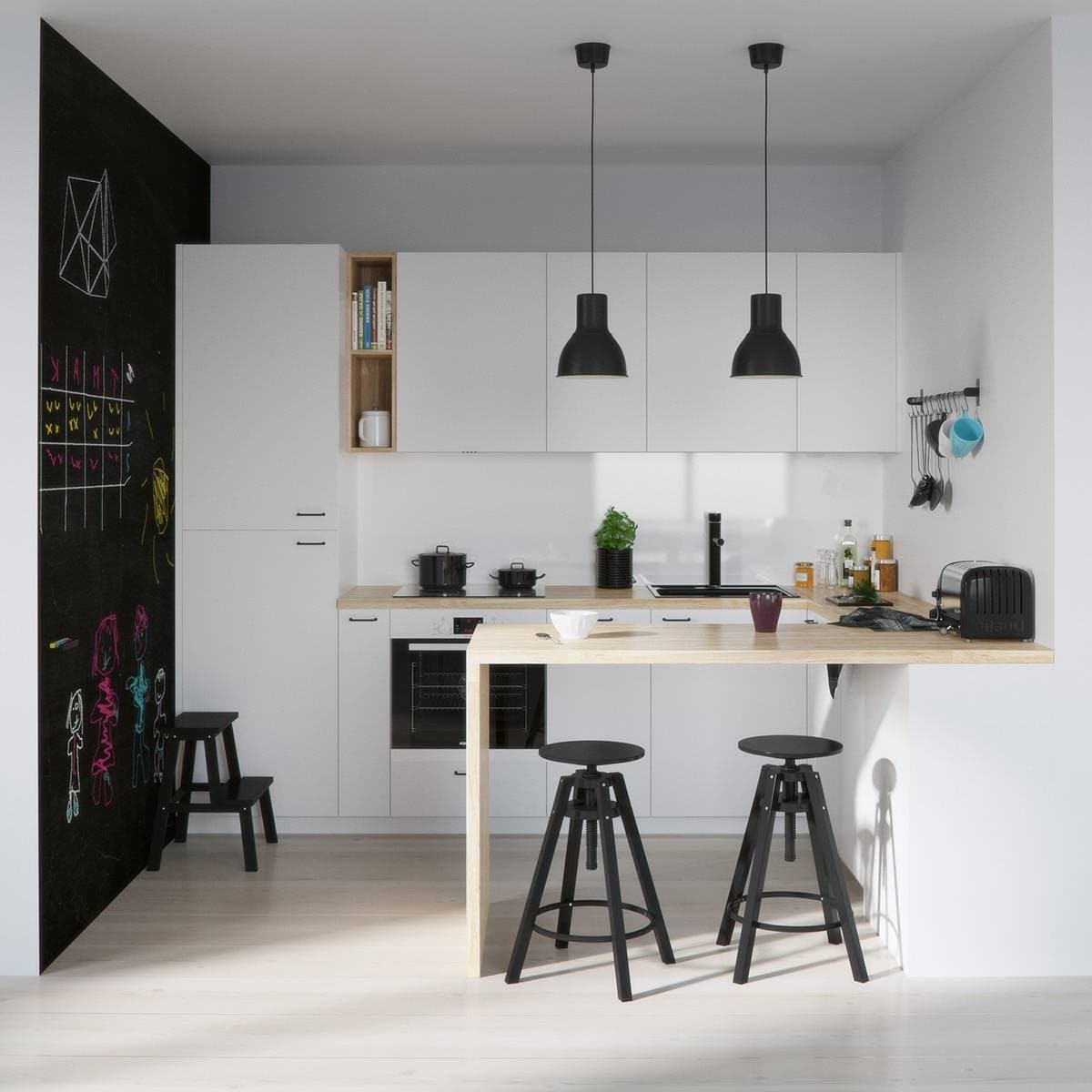 Несмотря на дефицит свободного пространства, маленькие кухни могут удачно сочетать в себе эстетику и лаконичность