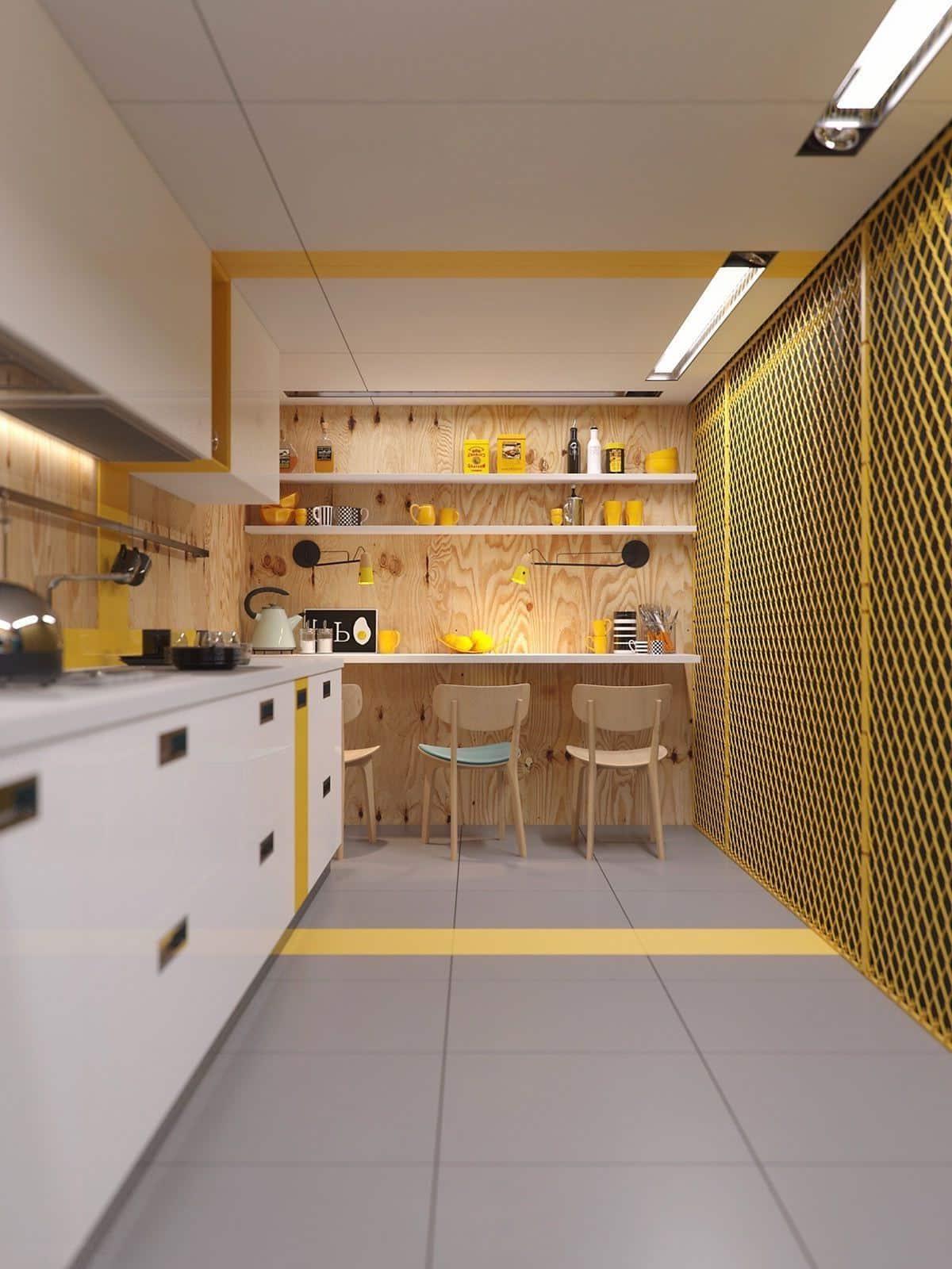 Дизайн интерьера узкой кухни требует особого подхода, так как наличие свободного пространство в таком помещении сильно ограничен