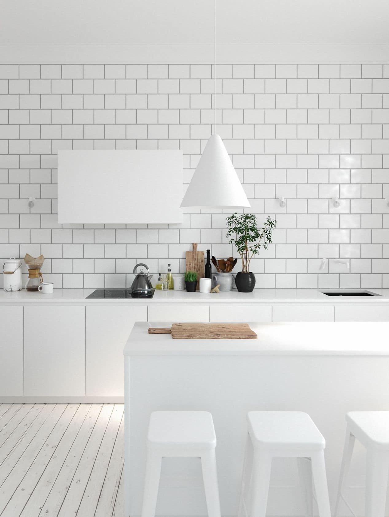 Роскошный белый плафон обеспечит равномерное распределение света над обеденным столом