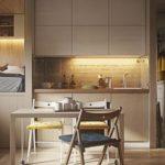 природные материалы в отделки кухни