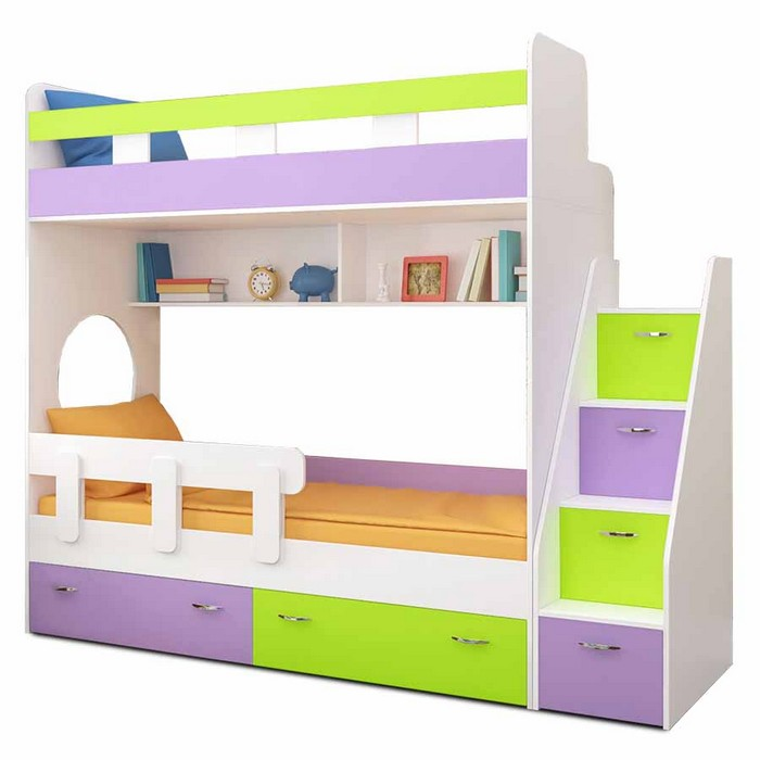 Детская мебель с полками и щиками