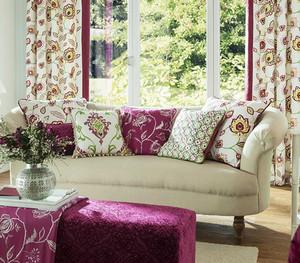 Текстиль в гостинной в стиле прованс