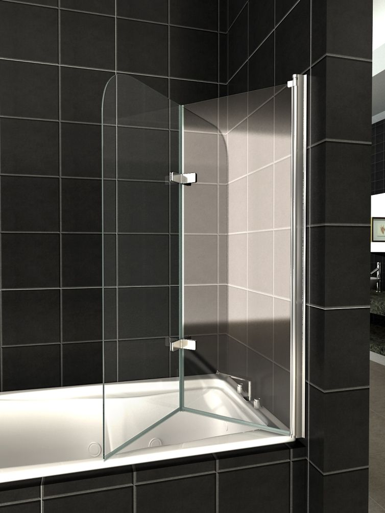 Разновидности стеклянных шторок для ванной фото