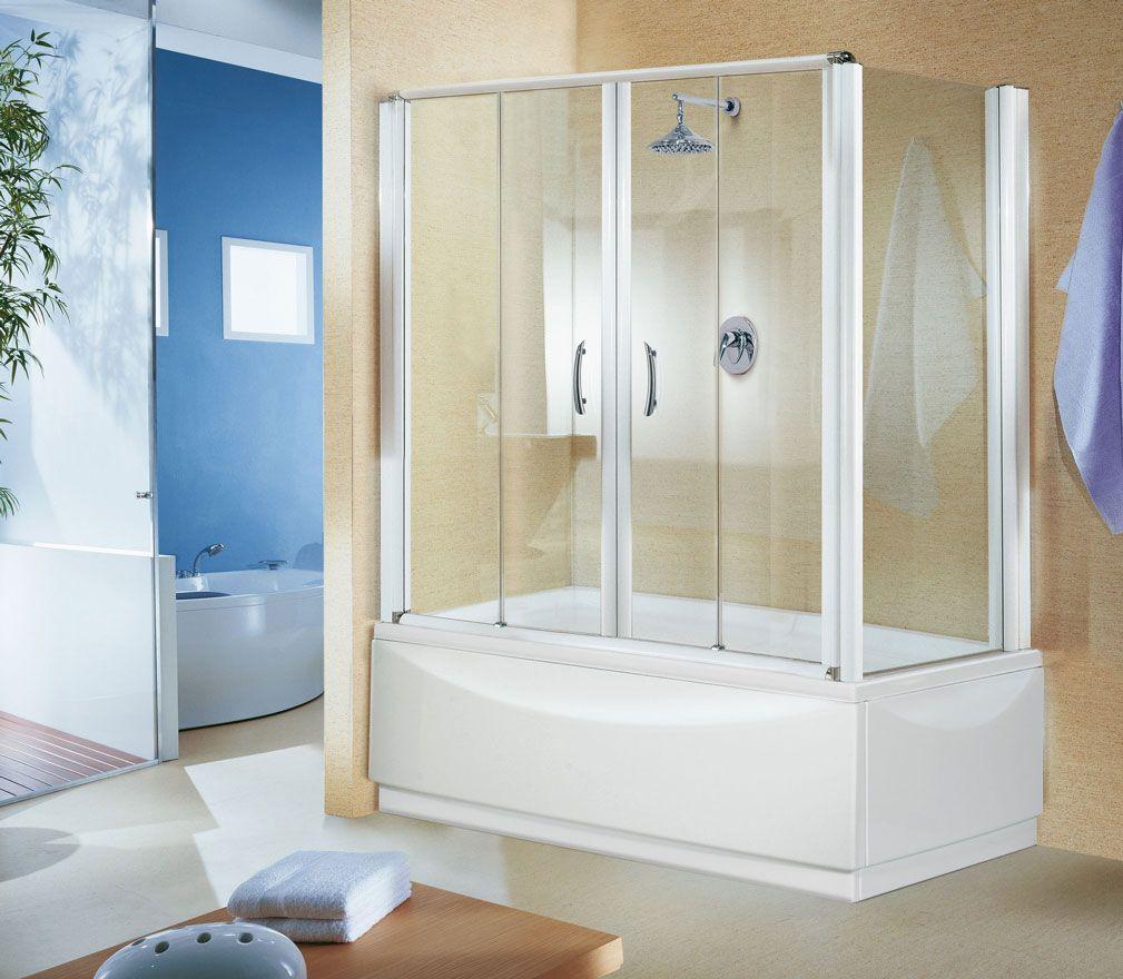 Выбор раздвижных стеклянных шторок для просторной ванной комнаты