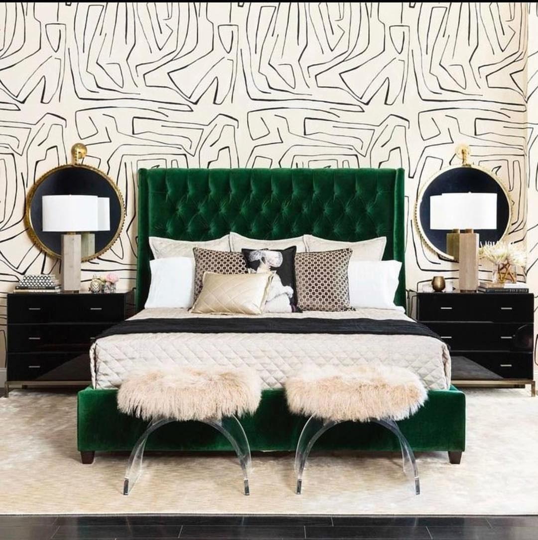 Избавиться от приедающейся однотонности поможет вот такой дизайн спальни