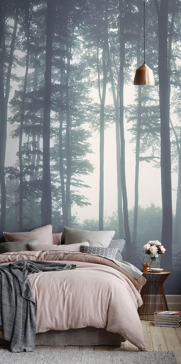 Правильно выбранные фотообои помогут расширить комнату, наполнив ее спокойствием и тишиной