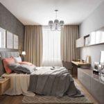 шоколадные оттенки в дизайне спальни