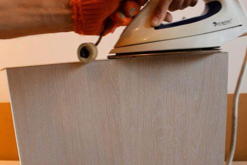 Фото: Обработка торцов мебельной кромкой