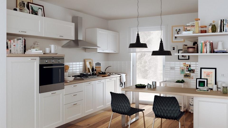 Полки могут послужить отличным местом для хранения не только кухонной утвари, но и других мелких предметов