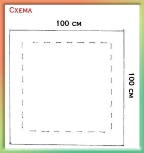 лавный момент в пошиве конверта-одеяла заключается в размере