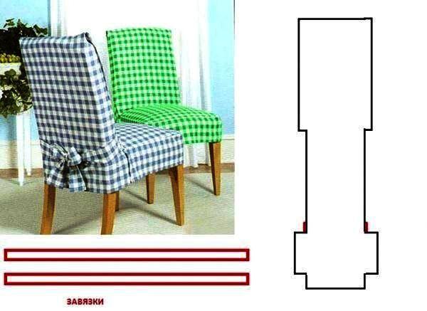 чехлы для стульев на кухню фото выкройка