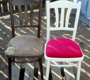 Ремонт стула с мягкой обивкой