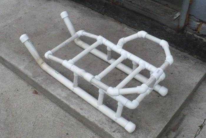 Сани из пластиковых труб