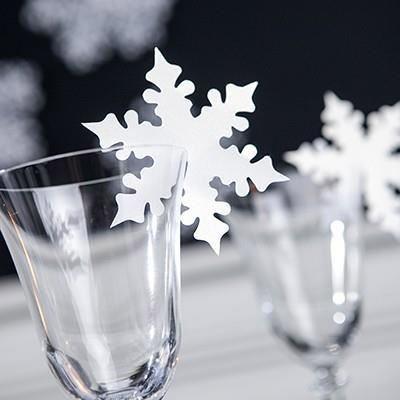 Украшение бокалов на Новый год