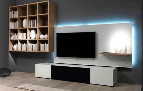 Подсветка ниши для телевизора