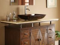 дизайн ванной с накладой раковиной
