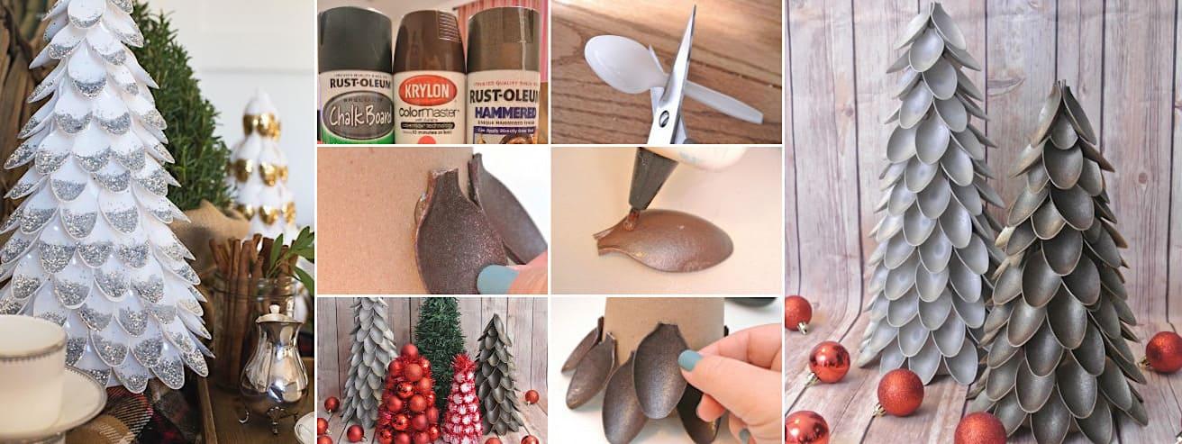 Использования пластиковых ложек в новогоднем декоре