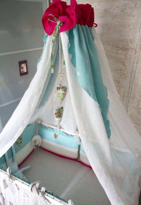 Хлопок-это лучший материал для детского текстиля, в том числе и для балдахина