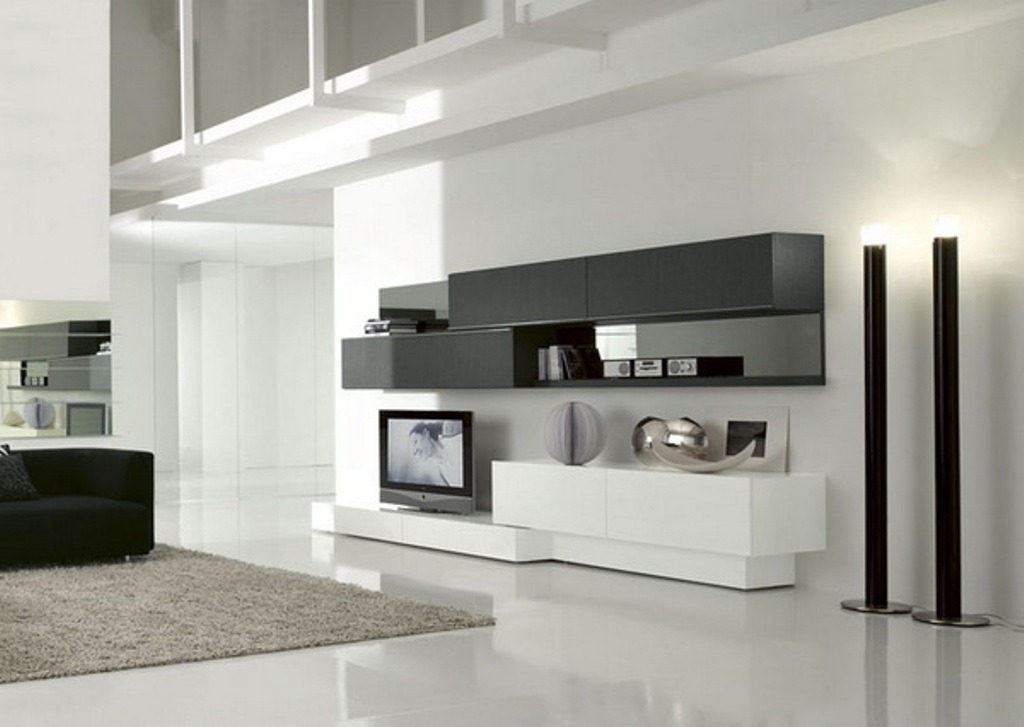 Корпусная мебель в стиле хай тек для гостиной