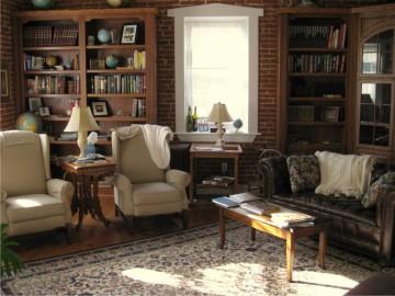 Интерьер комнаты в стиле ретро