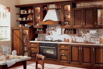 Интерьер кухня в ретро стиле