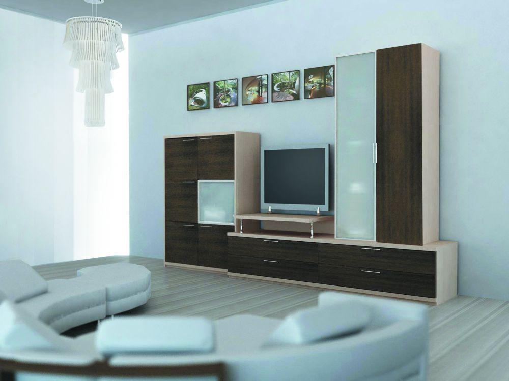 Простая корпусная мебель для гостиной