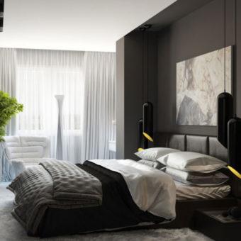 Черно-белая спальня (10)