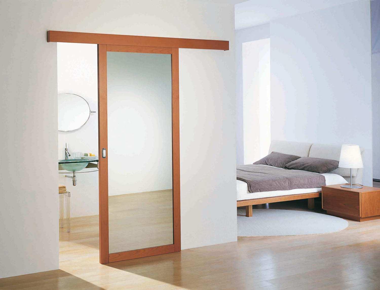 Зеркало с двух сторон двери для ванной комнаты