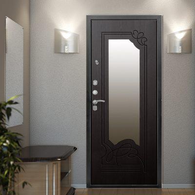 Зеркало напротив двери