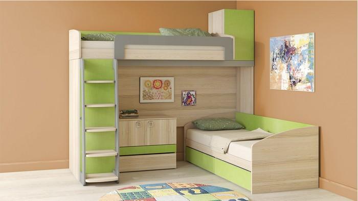 Детская мебель в интерьере комнаты