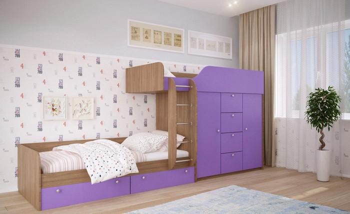 Детская мебель фиолетового оттенка