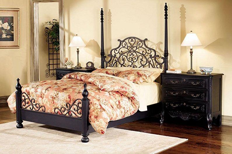 Виды кованых кроватей в разных стилях - Прованс