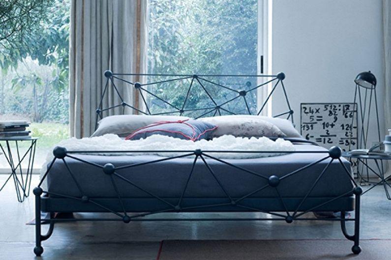 Виды кованых кроватей в разных стилях - Хай-тек