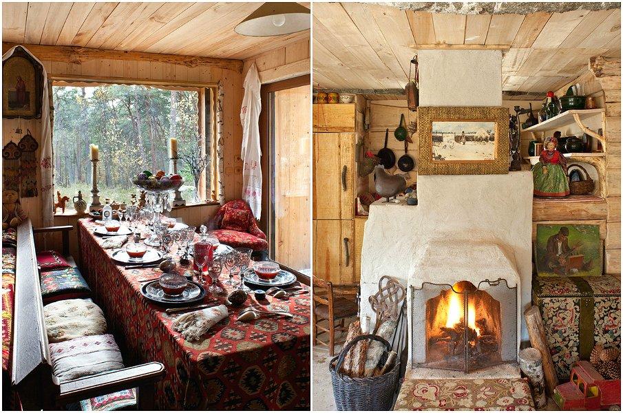 Русский стиль непременно ассоциируется с тёплой домашней обстановкой