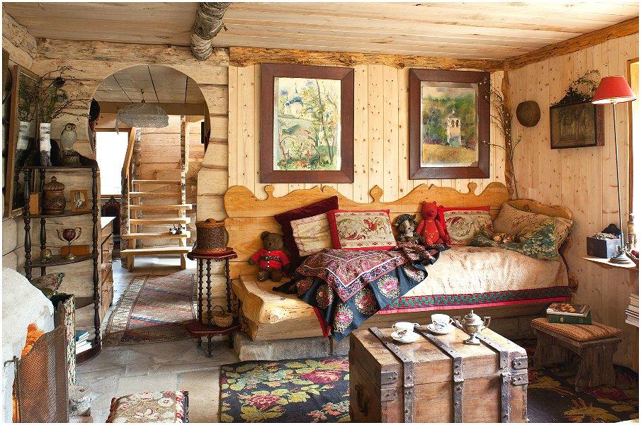 Русский стиль в интерьере - это обилие дерева во всех его проявлениях