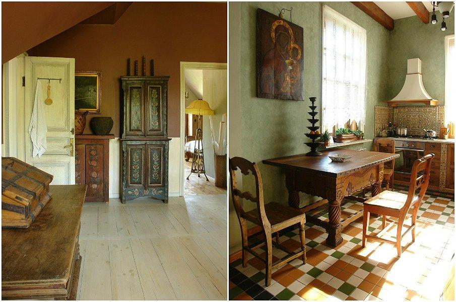 Простая деревянная мебель в русском стиле
