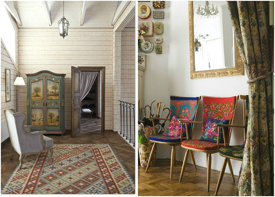 Мебель в русском стиле в современном интерьере