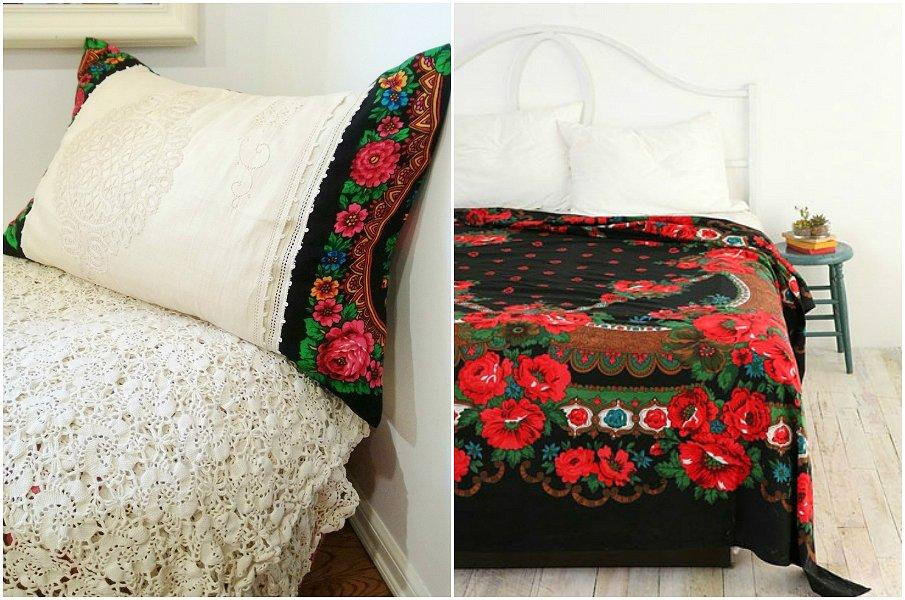 Постельное белье с мотивами павлопосадских платков