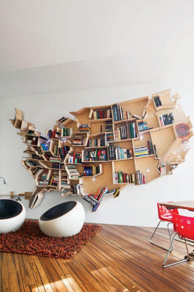 Стеллаж для книг и иных мелких предметов никогда не будет лишним, особенно если он идеально вписывается в интерьер