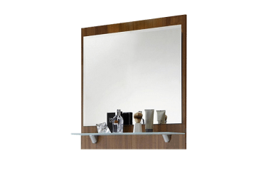 Зеркало с полками в спальню – отличное решение для хранения полезных мелочей