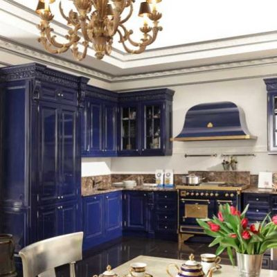 Кухня барокко синяя