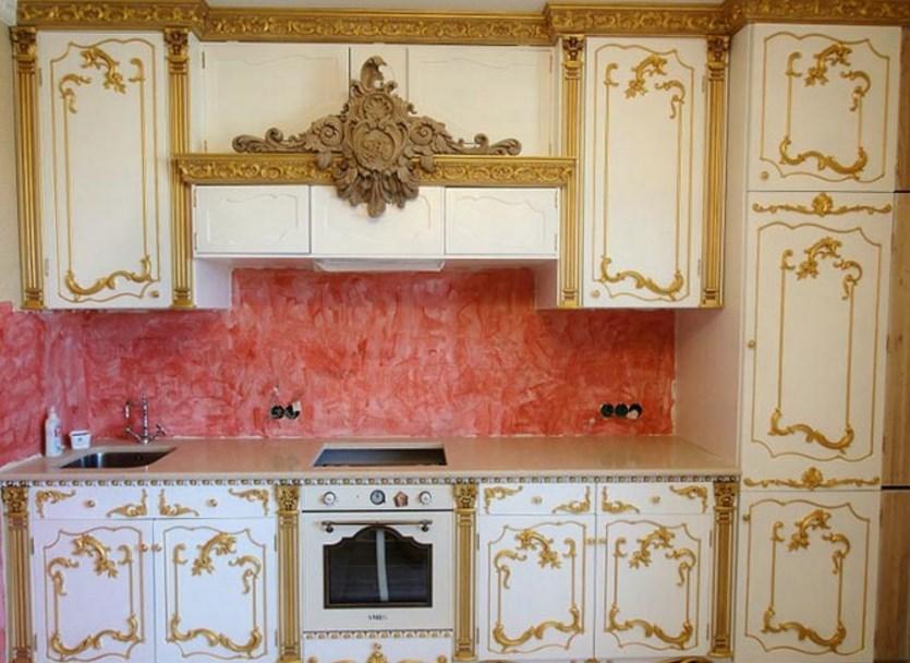 Кухня барокко интерьера на фото